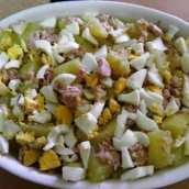 Patatas con Atún y Huevo Cocido